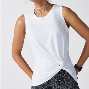 Fabletics Hera twist tee white tank top